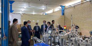 بازدید جمعی از مسئولین از کارخانه کانیا نور برزین زاگرس